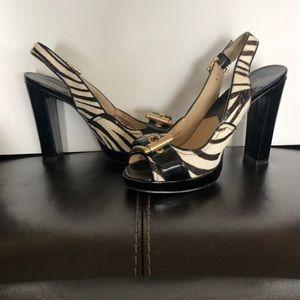 Michael Kors Zebra Platform Heels US Size 7M